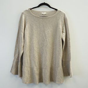 Style & Co Ruffled Pullover Sweater 1X Beige